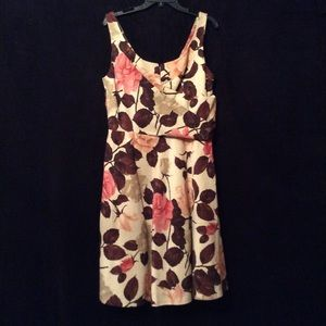 Talbots floral sleeveless party dress size 14